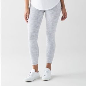 Lululemon Wunder Under Heather Grey Leggings